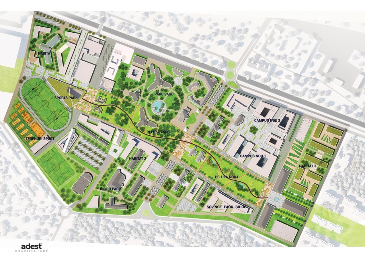 Proiectul pentru Campusul Universitar Oradea, publicat pe primacasa.ro