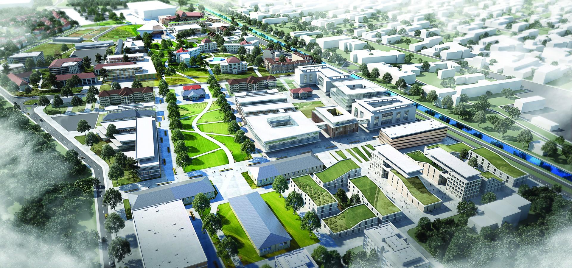 Proiectul de masterplan al campusului universitar, prezentat la Primăria Oradea